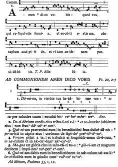 Gregorianischer Choral: S. Felicis de Valois - Communio: Amen dico vobis quod vos