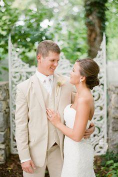 Nashville Garden Wedding Venue   Summer Groom's Suit - Photo: Brandon Chesbro