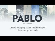 Social Media Images in 30 Seconds Flat: Meet Pablo by Buffer Social Media Images, Social Media Design, Social Media Tips, Social Media Marketing, Social Networks, Content Marketing, Apps, Competitor Analysis, Marketing Digital