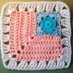 Postage Stamp Crochet Granny Square | AllFreeCrochetAfghanPatterns.com
