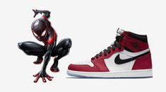 Miles Morales and Jordan Brand team up for an AJ Marvel Shoes, Marvel Clothes, Spiderman, Sneakers Wallpaper, Nike Air, Fresh Shoes, Hype Shoes, Only Shoes, Best Sneakers