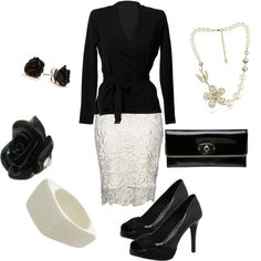 Dressy Black and White, created by staceedawn