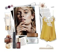 """""""Night routine"""" by alinnas ❤ liked on Polyvore featuring Estée Lauder, Balenciaga and Smith & Cult"""