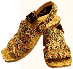 Gents Chappal- Multicolor | Pakistani Indian Khussa Shoes