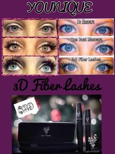 """https://www.youniqueproducts.com/TaraJeroloman Younique is home to the #1 selling 3D Fiber Lash Mascara. This mascara enhances your lashes 300 percent in length and volume. All natural, safe for sensitive eyes and contact lens wearers. Water resistant, extremely long lasting, yet easily washes off with just soap and water. Quality is affordable, $29 for a 2 - 3 month supply. Every Younique product is back by their """"Love It"""" guarantee. Amazing other products to try as well!"""
