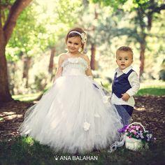 Flower girl dress, Tutu dress by AnaBalahan   #flowergirldress #girloutfits #pageboysuits #tutudress #tutu #flowergirl #baptismgown