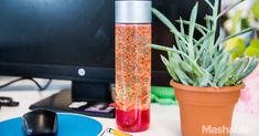 How to make a lava lamp for a more hypnotizing desk top - - Make your dorm or desk a little more psychedelic with an easy and inexpensive lava lamp. No electrical skills required. Lava Lamp For Kids, Make A Lava Lamp, Calm Down Jar, Calm Down Bottle, Cute Crafts, Crafts To Make, Diy Crafts, Homemade Lava Lamp, Glow Paint