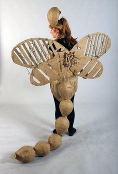 Strode College - Somerset UK Cardboard Catwalk 2014 Dragonfly