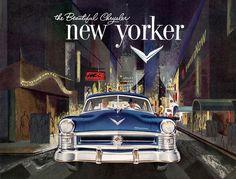 Plan59 :: Classic Car Art :: Vintage Ads :: 1952 Chrysler New Yorker