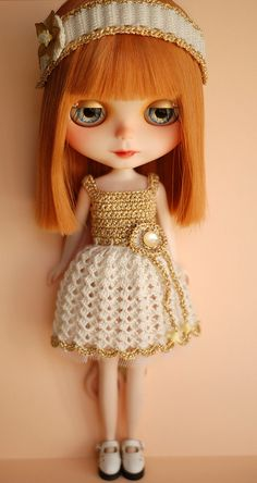 Gold Custom Blythe by Art_emis, via Flickr