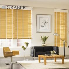 """Graber Traditions 2"""" Wood Blinds in Natural with Duck White Cloth Tapes. These blinds are crafted from the finest North American hardwoods and are offered in a variety of stained or painted finishes at Blinds.com."""