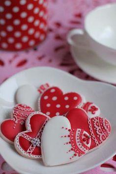Delicate Valentine hearts