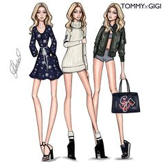 Check Out My Instagram Story ! This Is @LDochev , Who Illustrated  @GigiHadid In @TommyHilfiger ! Thank YOU Guys For Your Support And Understanding. To Be Fair, I'll Be Deleting The Rest Of The Artist Series. Please Please Please DM And E-Mail Your Questions, Criticism, And Concerns About The Artist Series ! Again, I'm SUPER Sorry .