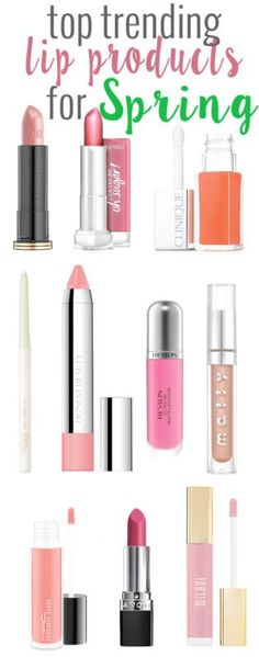 Top Trending Lip Products for Spring