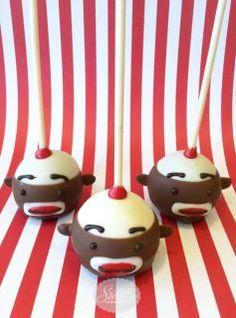 Sock Monkey cake pops!