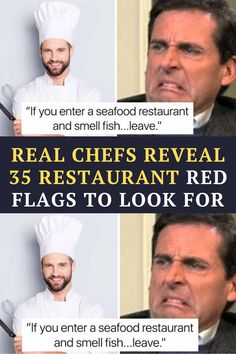 here are 35 restaurant red flags.