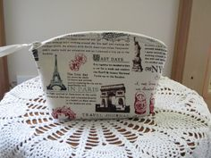 Antiquebasketlady Cosmetic Bag Clutch Zipper by Antiquebasketlady
