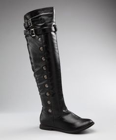 Take a look at this Black Malvi Knee-High Boot by Blow-Out on #zulily today!