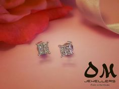 Princess cut earrings for your Princess! #valentinesday ★★Take home today and pay later with Interest Free Finance. ★★Diamond studs in 18 karat gold starting from $470. #omjewellers #omjewelaus #perth #brisbane #gold #jewellery #earrings #whitegold #gold #diamonds #princesscut #square #cluster #westfield #carousel #lakeside #joondalup #loveit #makeherhappy #birthday #anniversary #wedding #bridal #giftideas