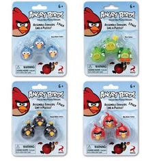 You get one pack of either red, black, blue birds or green pig Pencil Eraser, Angry Birds, Get One, Blue Bird, Puzzle, Arts And Crafts, Packing, Red Black, Stephen Kings