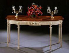 Neoclassic side table, Robert Adam style, with an attractive central design element.