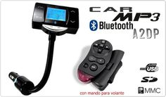 Buenas tardes amig@s!! Hoy en Carmultimediazone.com destacamos nuestro Transmisor de FM MP3 con Bluetooth A2DP + mando para volante, conexiones USB y Jack para memorias portátiles, reproductores MP3 y lector de tarjetas SD/MMC, BLUETOOTH manos libres (versión BlueCore3), soporta formatos MP3 / WMA, alimentación: válido para 12V y 24V, lector de tarjetas SD / MMC, perfil A2DP: transmisor preparado para reproducir archivos desde dispositivos móviles con perfil A2DP a través de Bluetooth...