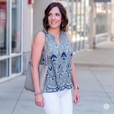 I've rounded up my August favorites on the blog today, including this beautiful @luckybrand embroidered top. 💙 Their BOGO 50% off mix and match sale is still going! Get shopping details thru the link in my bio or with @liketoknow.it  http://liketk.it/2snYx #liketkit #LTKsalealert #summerstyle #fashionover40