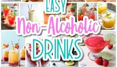The BEST Easy Non-Alcoholic Drinks Recipes – Creative Mocktails and Family Friendly, Alcohol-Free, Big Batch Party Beverages for a Crowd! The BEST Easy Non-Alcoholic Drinks Recipes – Creative Mocktails and Family Friendly, Alcohol-Free,. Holiday Party Appetizers, Holiday Drinks, Party Drinks, Party Snacks, Appetizers For Party, Party Appetisers, Quick And Easy Appetizers, Quick Snacks, Simple Snacks