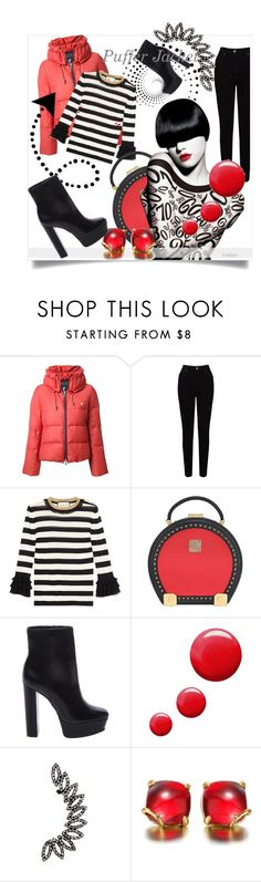 """""""Perfect Puffer Jackets"""" by kari-c on Polyvore featuring Loveless, EAST, Gucci, MCM, Schutz, Topshop and puffers"""