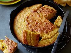 Creamed Corn Cornbread recipe from Alton Brown via Food Network