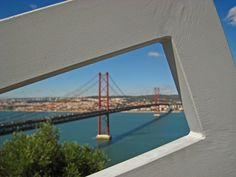 What to do in Lisbon: View of the 25th April bridge