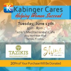 Join us, eat a delicious dinner, and help support young women and an awesome cause. @ForTheGirlsInternational @tazikisnorthdale