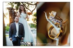 Kristina + Anthony's Fall wedding. Beautiful Engagement ring and wedding bands from Albert's Fine Jewelers!
