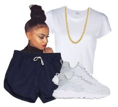 """""""07/14/16"""" by xkiaaaaa ❤ liked on Polyvore featuring RE/DONE, American Apparel and NIKE"""