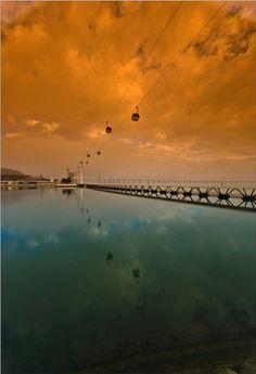 The ferry cable - Lisboa, Lisboa Lisbon Portugal, Europe, Sunset, City, Travel, Outdoor, Beautiful, Cable, Eyes