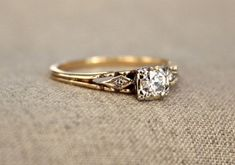 100 Simple Vintage Engagement Rings Inspiration (21)