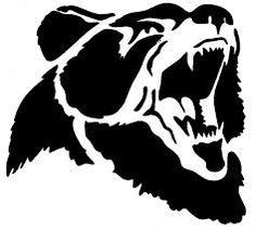 Billedresultat for bear head silhouette