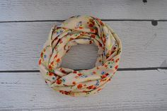 Cream Floral Toddler and Child Infinity Scarf