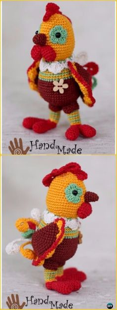Funny Rooster Crochet Pattern Pinterest Amigurumi Crochet And