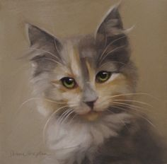 Reluctant Rebel kitten painting and Cat Art Show 2, painting by artist Diane Hoeptner