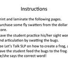 This version of Articulation Bugs features /r/, /l/, and /w/ in the initial, medial, and final positions of words....