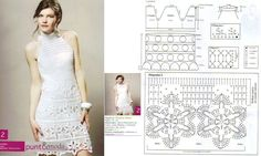 Crochet dress Models and grids to print!