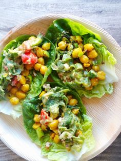 curried chickpea lettuce wraps - Beauty Bites