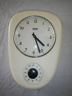 Vintage Kitchen Timer Wall Mount Clock