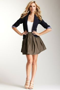 skirt + blazer, work outfit this summer.