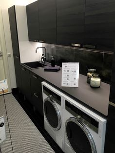 Asuntomessut Seinajoki 2016 IMG_7264 Modern Laundry Rooms, Laundry Room Design, Laundry In Bathroom, Laundry Room Inspiration, Mudroom, House Plans, Sweet Home, New Homes, Home Appliances