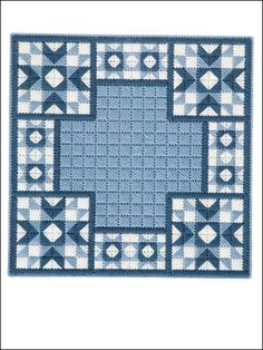Stitch this quilt block done in 7-count plastic canvas and add a touch of beauty to your home.     Skill level: Easy
