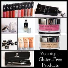 YOUNQUE ARE NATURALLY-BASED PRODUCTS!!!  Gluten free, hypoallergenic, no synthetics or artificial colours or fragrances.