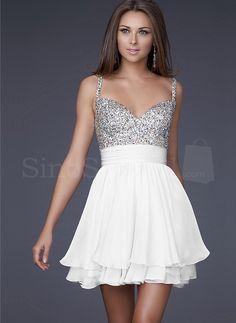 SinoSpecial   Beautiful A-line Spaghetti Straps Mini Chiffon Prom Dress   Online Store Powered by Storenvy