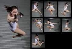 Female Gun Pack 2 - Drawing Reference by SenshiStock.deviantart.com on @DeviantArt